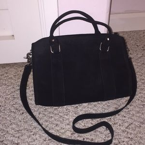 Black Suade purse